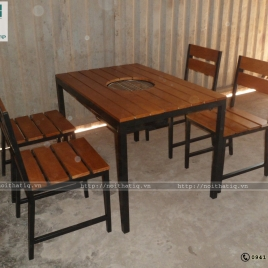 Bàn ghế nhà hàng - BNH001