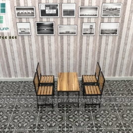 Bàn ghế cafe phong cách - BGCF003
