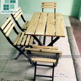 Bàn ghế cafe đẹp - BGCF004