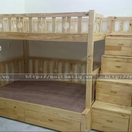 Giường tầng trẻ em gỗ thông : GTTE008