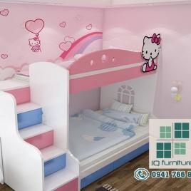 Giường tầng cho bé gái  : GTTE010