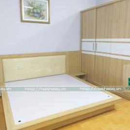 Thiết kế nội thất phòng ngủ cực đẹp chưa đến 25tr tại Văn Cao