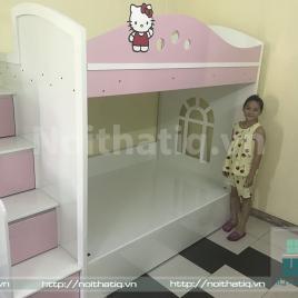 Giường tầng trẻ em kết hợp bàn học - GTTE 017