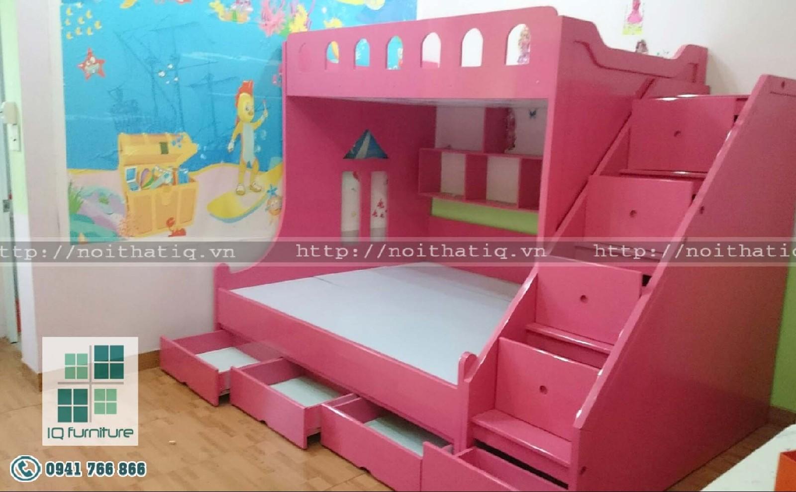 Thiết kế giường tầng trẻ em đẹp Hải Phòng