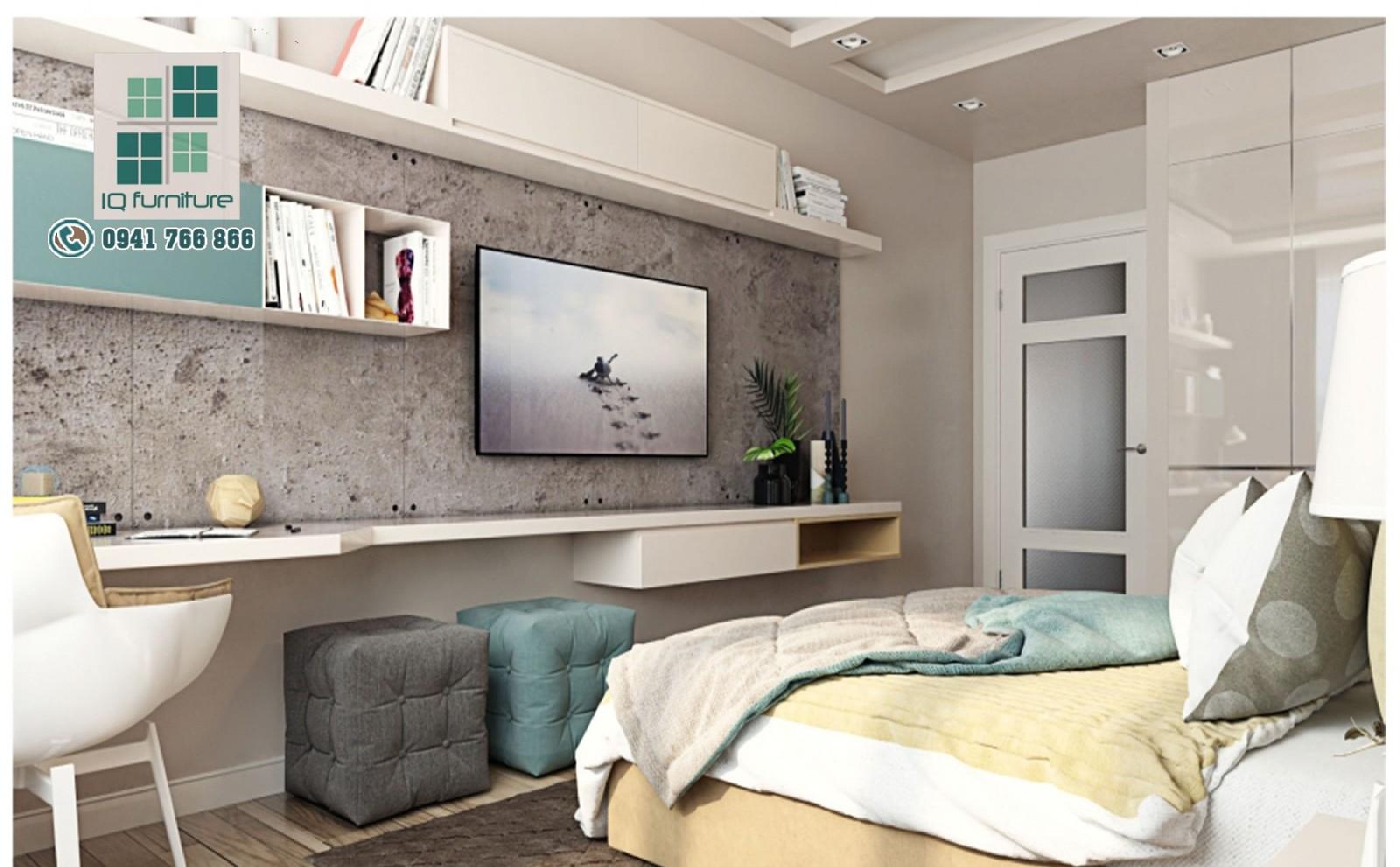 Thiết kế nội thất phòng ngủ hiện đại Hải Phòng
